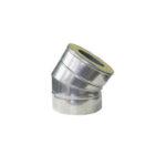 Nerezové izolované koleno 30°, izolace 50 mm