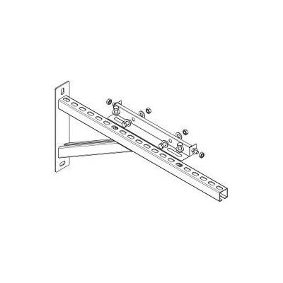 Komínova vzpěra konzole DN 130 mm, nástavná (70-390 mm), pro systémy s izolací 30 mm