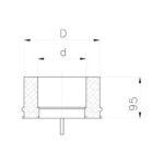 Komínová kondenzační jímka, izolace 30 mm