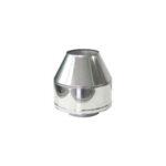 Nerezové horní kónické ukončení, DN 130 mm, pro systémy s izolací 50 mm