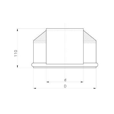 Komínové horní kónické ukončení, pro systémy s izolací 30 mm