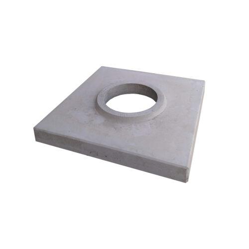 Betonová krycí deska jednoprůduchová šedá