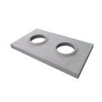 Betonová krycí deska, dvouprůduch šedá