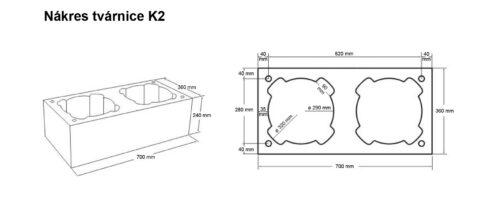 Nákres tvárnice K2