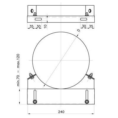 Komínová stěnová objímka, pro systémy s izolací 30 mm