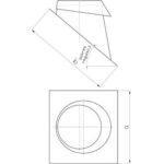 Komínový střešní přechod, sklon 30-50°, pro systémy s izolací 30 mm