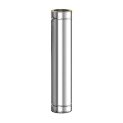 Komínová nerezová roura, DN 130 mm, délka 1 m, izolace 30 mm