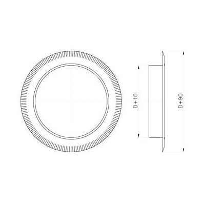 Komínová rozeta, DN 130 mm, pro systémy s izolací 30 mm