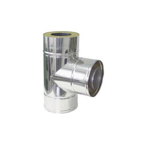 Nerezový izolovaný T-kus 87°, izolace 50 mm