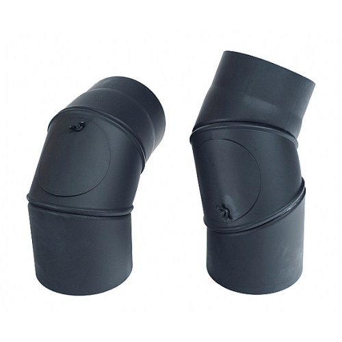 Koleno přenastavitelné s čistícím otvorem 160/0°-90°/2 mm
