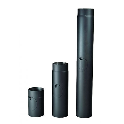 Kouřová roura s čistícím otvorem 130/500/2 mm