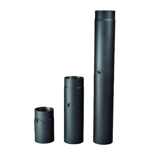 Kouřová roura s čistícím otvorem 145/500/2 mm