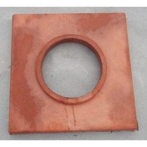 Betonová krycí deska, červená