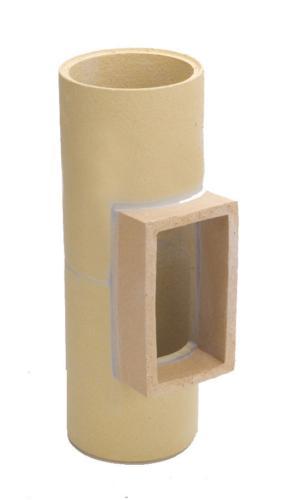 Komínová tvarovka - dvířkový díl - Keramika Poštorná - ilustrační obrázek