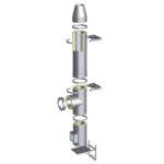 Nerezový izolovaný komínový systém s izolací 50 mm
