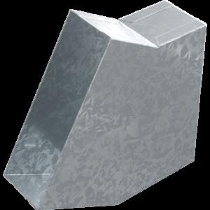Koleno pro kanál 150 x 50 mm, 30°