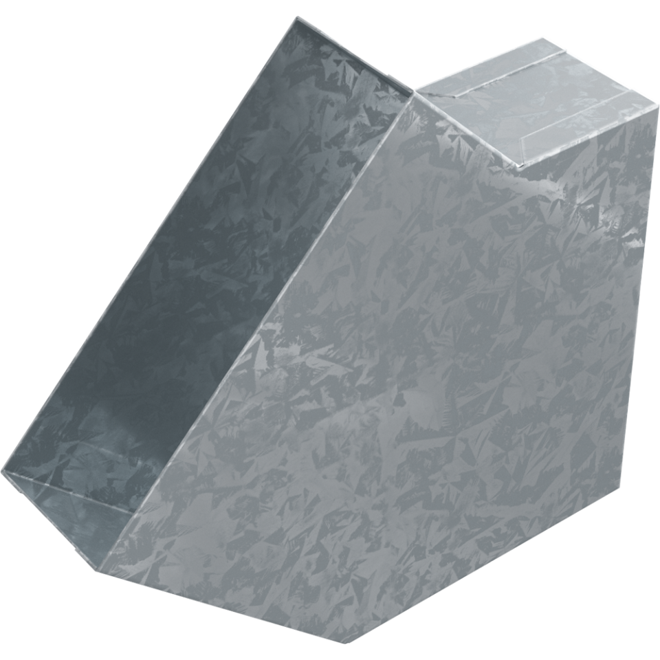 Koleno pro kanál 150 x 50 mm, 45°