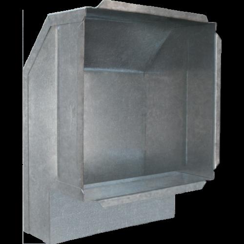 Přechod na mřížku (kanál 150 x 50 mm)
