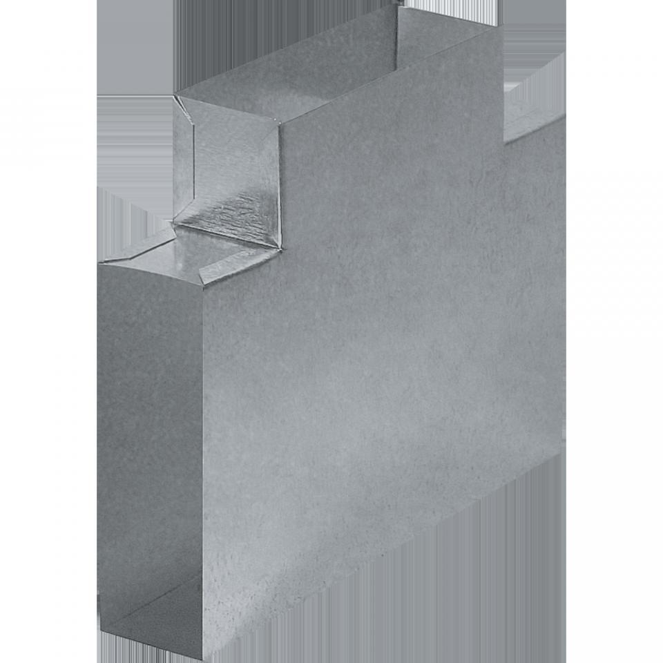T-kus pro plochý kanál 150 x 50 mm
