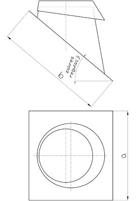 Komínový střešní přechod 5-30°
