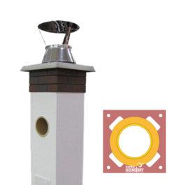 Jednoprůduchové systémové komíny SUPER BLOK universal