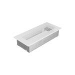 Komínová mřížka, bílá, 240 x 110 mm