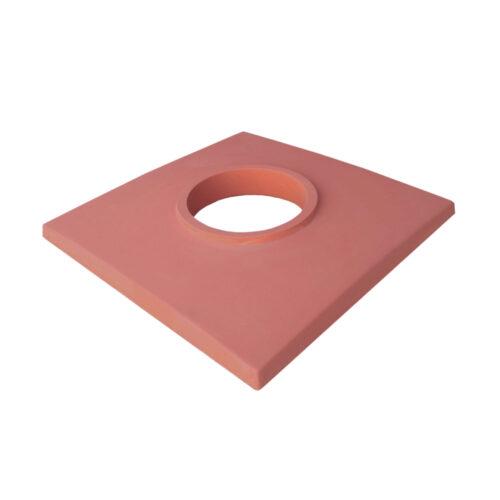 Betonová krycí deska jednoprůduchová, červená