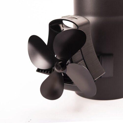 Ventilátor na kouřovod FLAMINGO čtyřlopatkový magnetický, černý