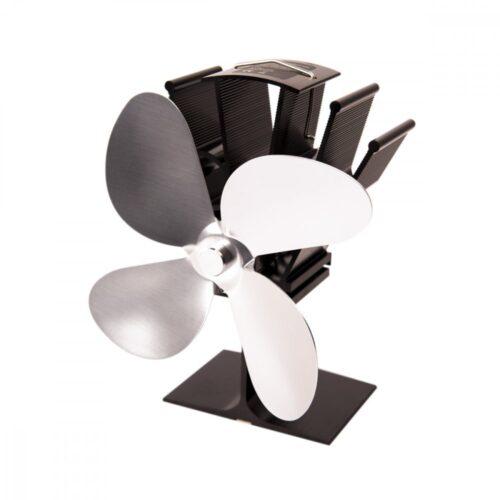 Ventilátor na kamna FLAMINGO čtyřlopatkový, stříbrný