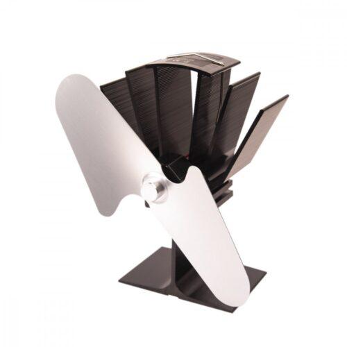 Ventilátor na kamna FLAMINGO dvoulopatkový, stříbrný